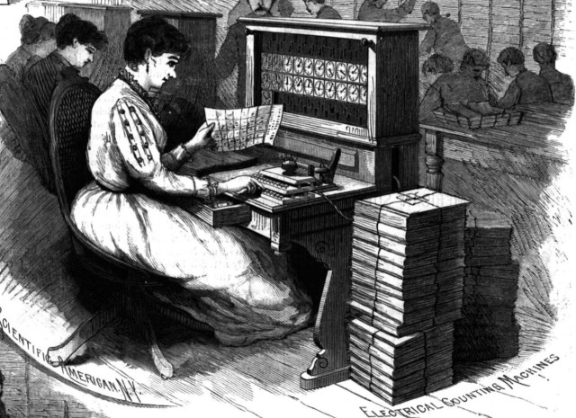 1890 Census - punch machines