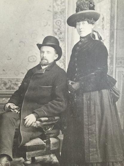 1890s, Lorenzo Stevens & Annie Maude Bletcher Stevens
