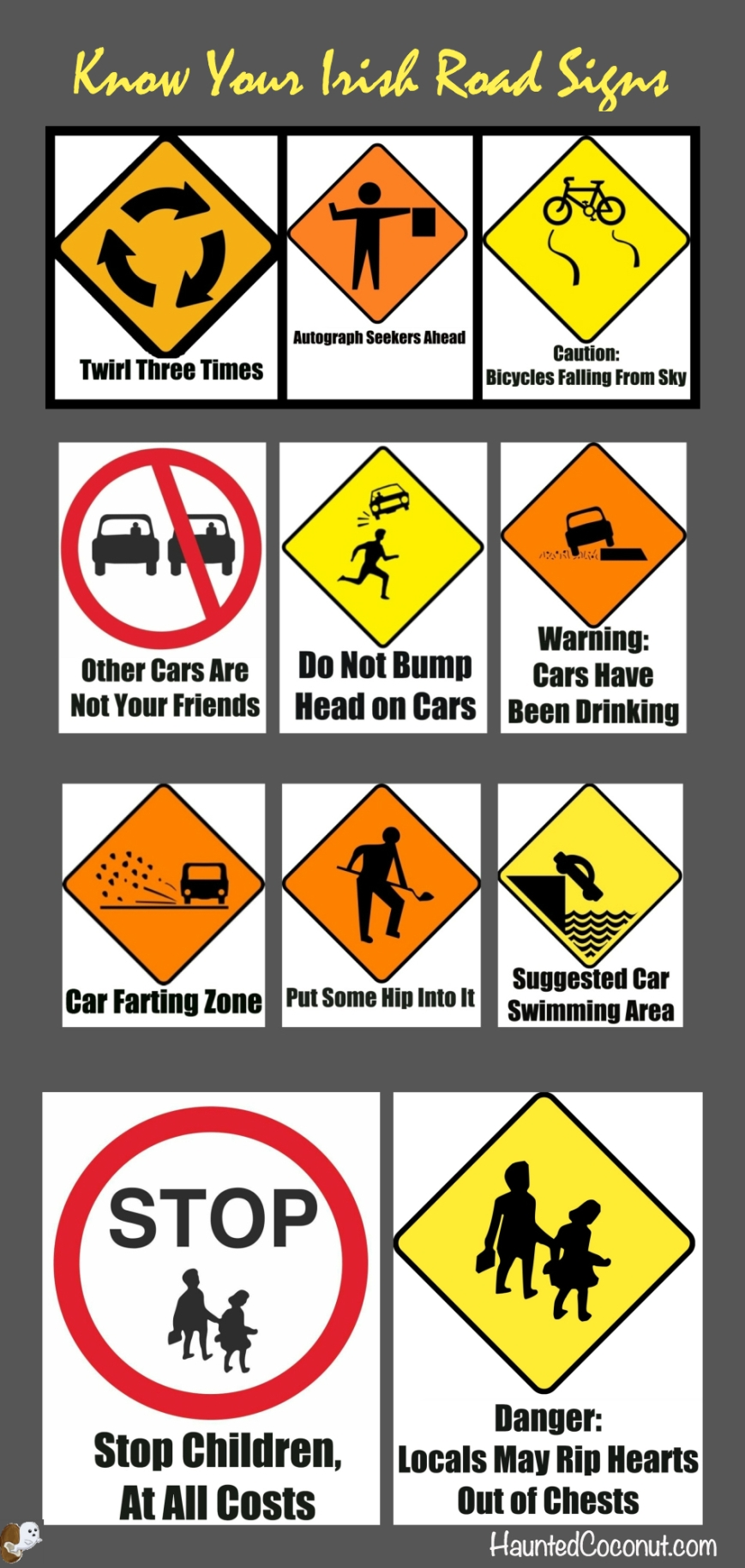 Irish Road Signs-from HauntedCoconutcom