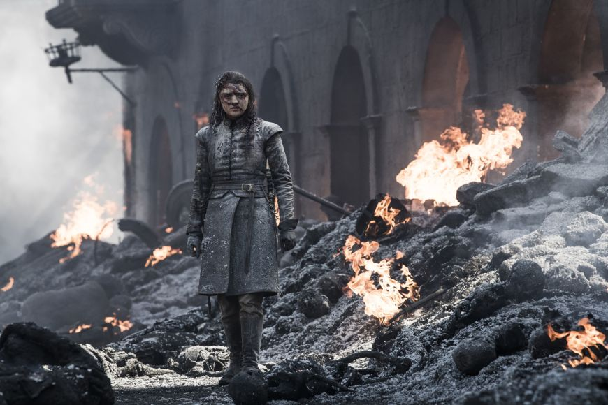 Arya in the Ashes, Game of Thrones Season 8 - HauntedCoconut.com.jpg